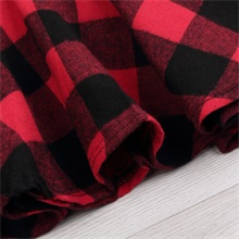 Infant Baby Girls Christmas Dress Long Sleeve Red Plaid Splice Skirt Bowknot Party Dress Outfits