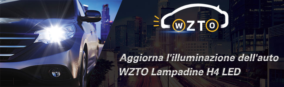 Lampadine LED,WZTO 70W 12000LM Fari Abbaglianti o Anabbaglianti per Auto Lampada Sostituzione per Alogena Lampade e Xenon Luci,Impermeabilit/à IP65 Kit LED,Chip CSP,12V-24V,6000K Bianco Freddo H4