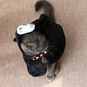 cat costume no face man