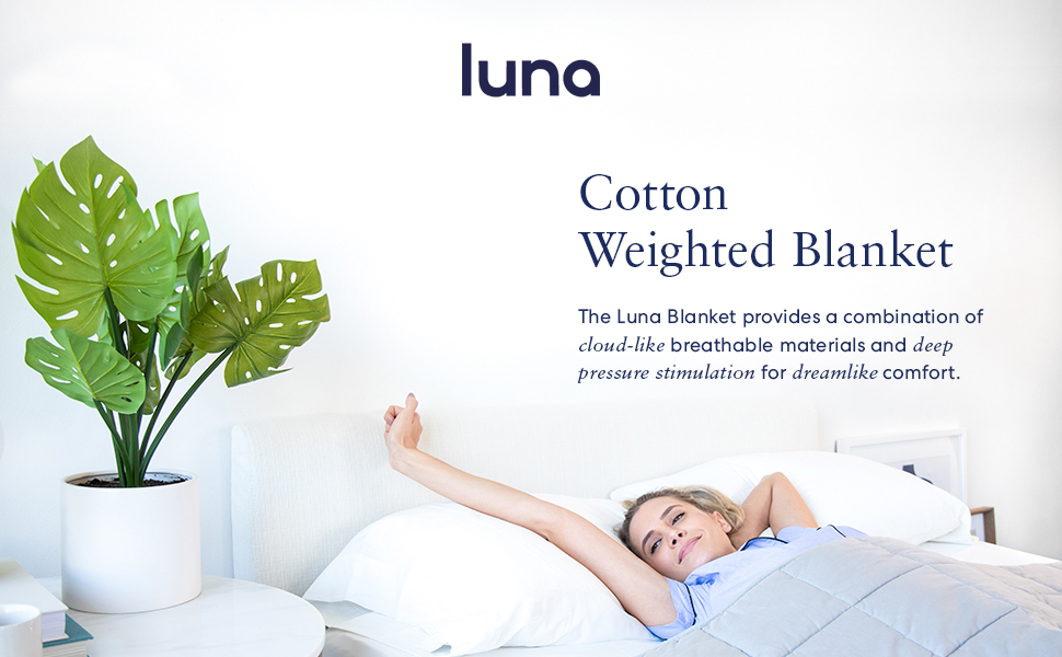 Luna provides a combination of cloud-like breathable fabric and a deep pressure for dreamlike sleep