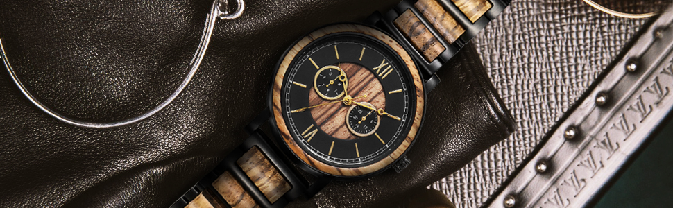 gift for birthday gift for Christmas gift for son  men watch customized wood watch