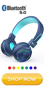 iClever kids bluetooth headphones with breathable LED lights