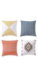 decorative throw pillow covers, decorative pillows for couch, pillow covers 18x18, throw pillows