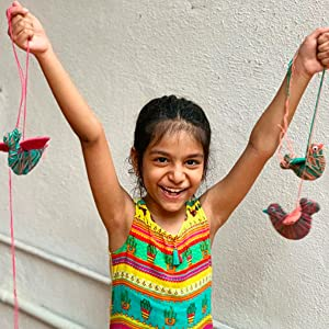 Crafting makes kids happy and develops real life skills. Craft kids for boys and girls