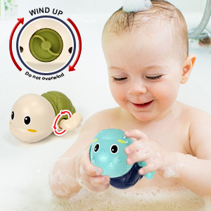 Bath Toys Water Toys with Fishing Game Floating Fish Swimming Tortise for Pool Bathtub Toddler -4