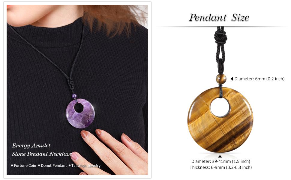 Energy Amulet Stone Pendant Necklace