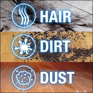 Hair.dirt.dust