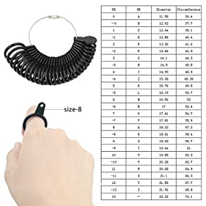 ring sizer with half size