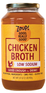 low sodium chicken broth soup