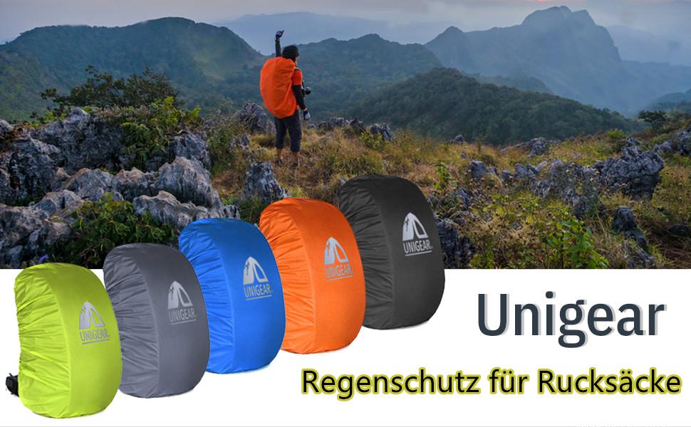 Regenschutz für Rucksäcke Schulranzen Regenüberzug Regenhülle Wasserdicht 35-70L
