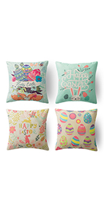 happy easter throw pillow covers easter pillows covers 18x18 easter decorative pillow case