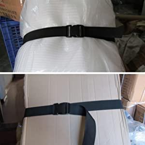 Noir - 25mm, 1m TRIWONDER Sangles de Bagages Ceintures de Valise Boucle Sangles demballage R/églables Robustes pour Voyage Tente Bagages Transporter Paquet de 4