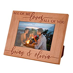 Valentines Day Personalized Picture Frame Anniversary Gift All of Me Loves All of You Custom 16 X 16