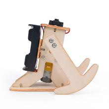 wooden robot diy project jogging robotic