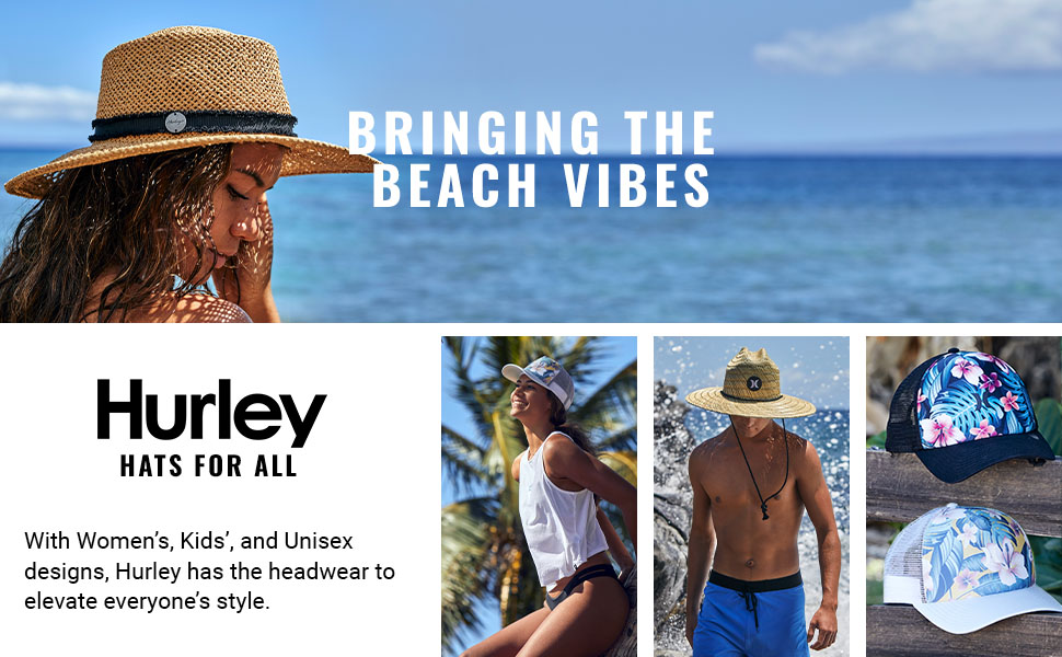 With Women's, Kids', and Unisex designs, Hurley has the headwear to elevate everyone's style.