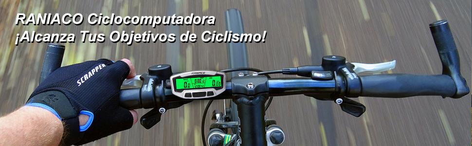Raniaco Cuentakilómetros para Bicicleta, Impermeable ...