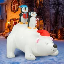 polar bear penguins inflatable
