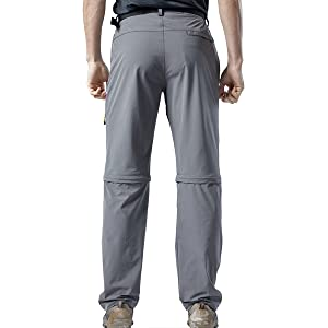 Men's Tactical Pants Convertible Shorts&Long Quick Dry Detachable Hiking Pants