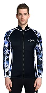 wetsuit top men sweat suit top vest men women 3mm neoprene top jacket wet suit jacket scuba suit