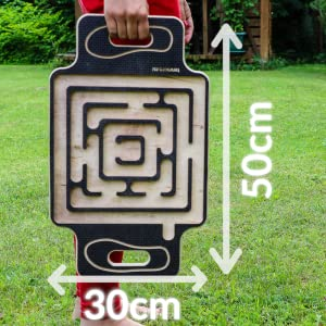 balance board indicating dimensions of 50 centimeters height and 30 centimeters width