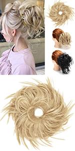 Tousled Updo Messy Bun Hair Piece Hair Bun Extensions Bun Scrunchie Scrunchy Updo Hairpiece