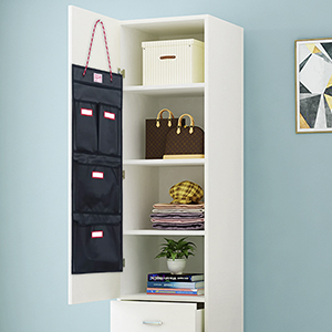 wall mount hanging organizer is suitable for closet locker, cabinet storage, school locker and more