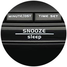 small clock radio with snooze