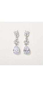 Marquise Wedding Drop Earrings