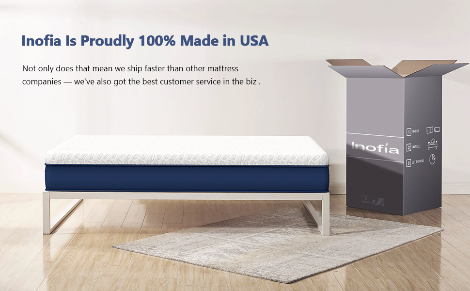 Inofia 10 Inch Copper Infused Foam Mattress