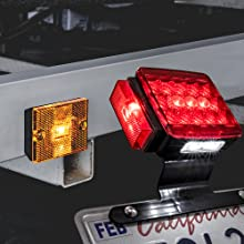 "LED Trailer Light Kit For Trailers Under/Over 80"" Wide of license plate,brake light,and side marker."