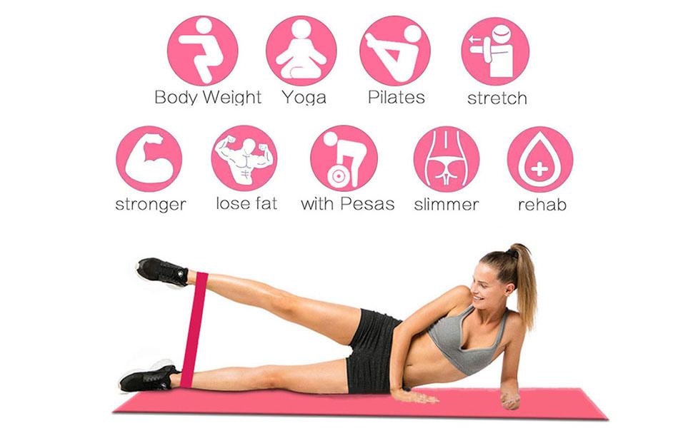 Yoga Fitnessbänder Gymnastikband Fitnessband Widerstandsband Übungsband # L7L9