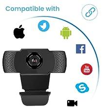 1080P Webcam for PC Laptop Desktop