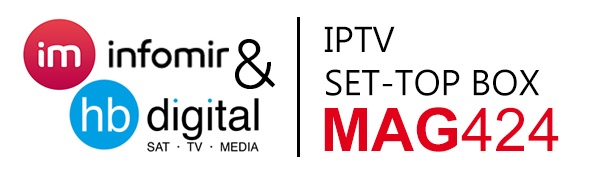 MAG 424 IPTV Set Top Box