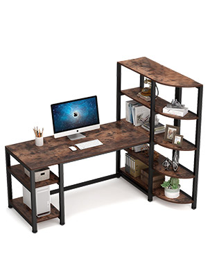 computer desk with hutch and bookshelf