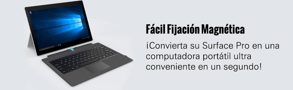 MoKo Surface Pro 7Plus/7/6/4/3/Pro 2017 Teclado Inalámbrico Bluetooth - Wireless Keyboard (QWERTY) para Microsoft Surface Pro 6/4/3 Tableta/Panel ...