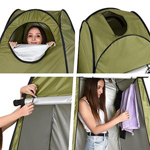 1 Ud Ducha WC Camping Cambiador Azul UV50+ 190x120x120 cm Relaxdays Tienda de Campa/ña Instant/ánea Poli/éster-Acero