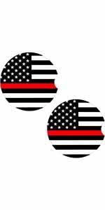 American Flag Car Coasters