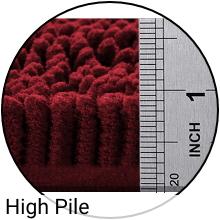 Ruler measuring rug pile of 1 inch