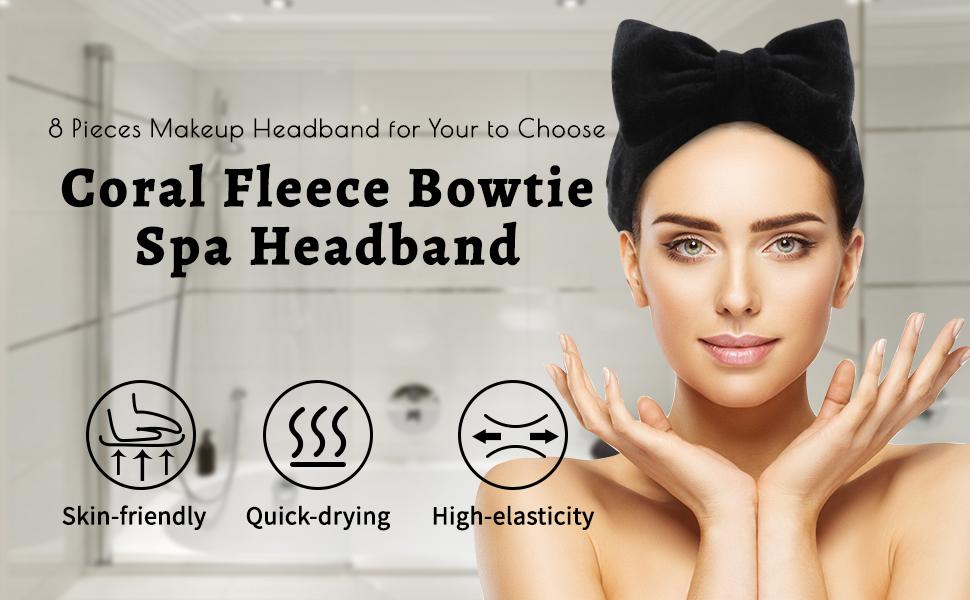 makeup headbands for women bow headband skincare headbands bow hairband