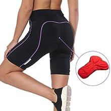 women bike shorts padded