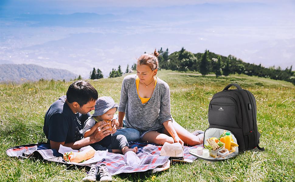 Coffee Print Cadeau Homme Laptop Backpack Minimalist BackpackUnisex Rucksack Rugzak Foodie Gift Sac a dos minimaliste Femme
