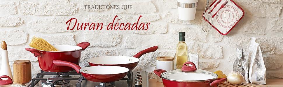 Sartén Redondo en Hierro Fundido con mango, 32 cm - por Utopia Kitchen