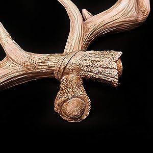 Hansmeier Perchero en Diseño de los Cuernos de Ciervo - Cornamenta Mural Decoración de Pared y Gancho Antler - Rosado