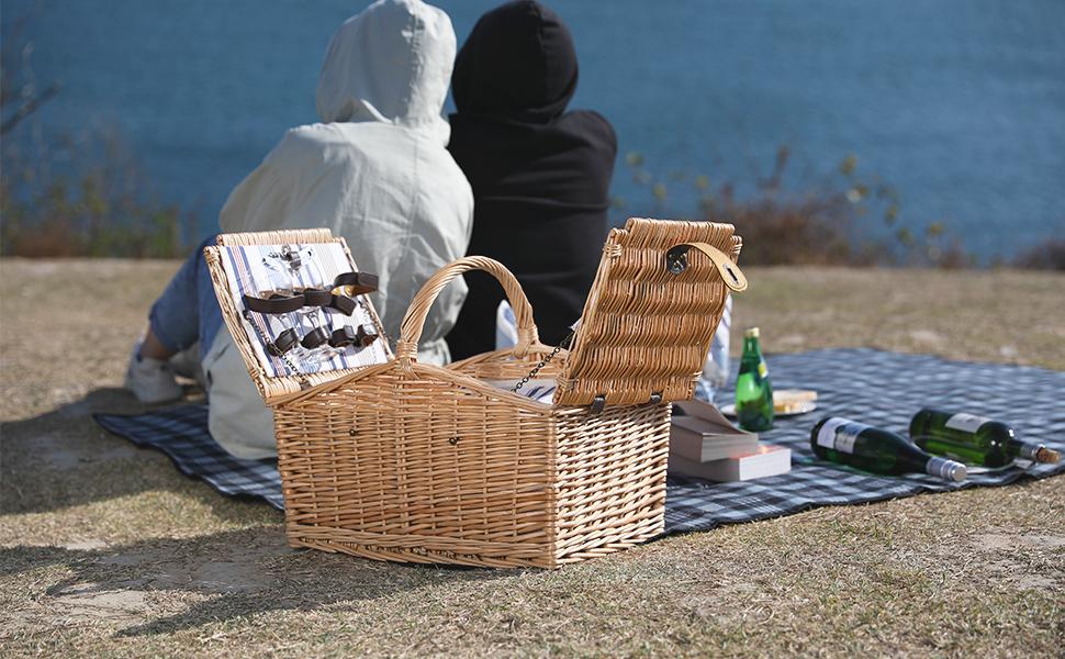 Manta de Picnic Extragrande Playa pr/áctica Estera para Playa Color Blanco y Negro Impermeable 3 Capas Camping ZORMY para Picnic al Aire Libre Hierba y port/átil
