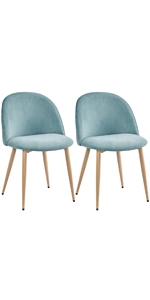 Yaheetech Soft Velvet Seat Dining Chairs