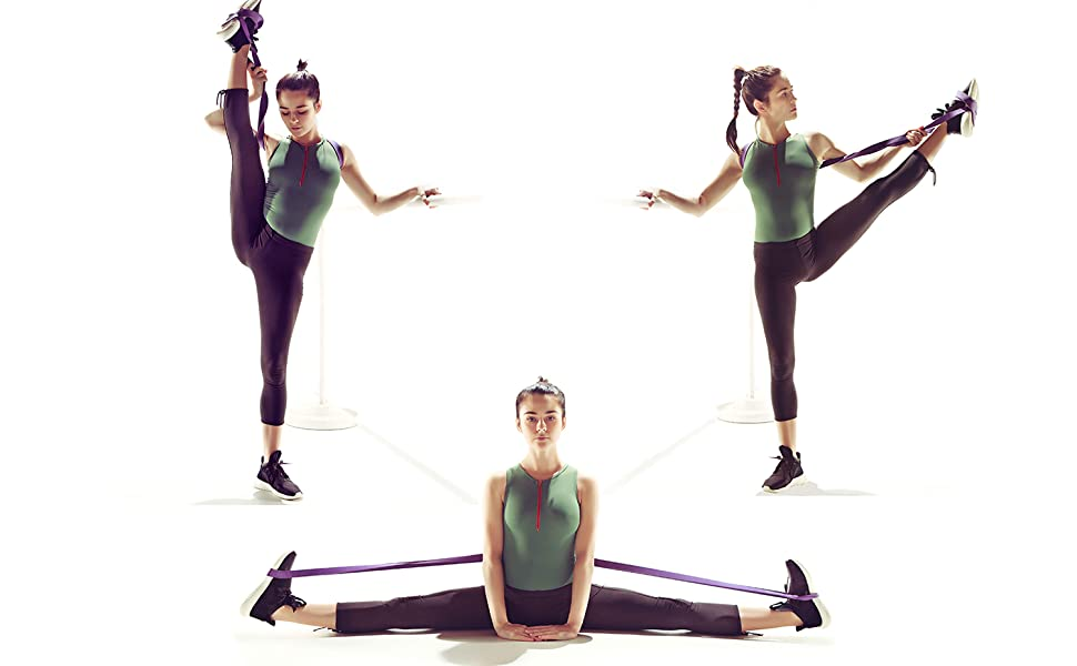 QWHYBM Latin Dance Elastic Stretch Band Exercise Pull Band Yoga Fitness Resistance Band Adult Children Unisex Ballet
