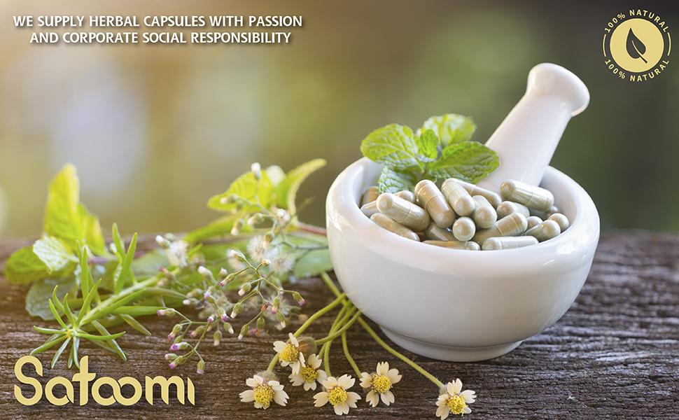 Satoomi White Kidney Bean, Garcinia Cambogia, Olive Leaf, Green Coffee Bean, Green Tea, Black Pepper