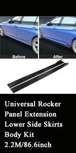 Universal Rocker Panel Extension Lower Side Skirts Body Kit 2.2M/86.6inch