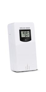 Kalawen Wireless Remote Sensor for Outdoor Temperature Humidity Remote Sensor