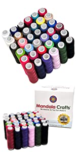All Purpose Hand Machine Sewing Embroidery Polyester Thread Assortment Spools Kit